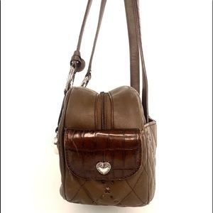 Brighton Bags - Brighton Brown Quilted Leather Shoulder Bag